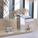 NEW Contemporary Widespread  rainfall basin Faucet chrome finish HL1004