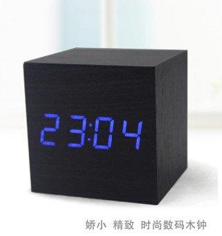 Voice Control LED Cube Led Alarm Clock - B03