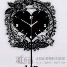 Country Style Decoupage Type Acrylic Wall Clock - AQHY01B