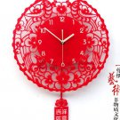 Country Style Decoupage Type Acrylic Wall Clock - XSMS01