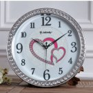 "15""H Fashion Wedding Wall Clock With Jewelry Decoration -JEBELY/GE418-01A"