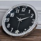 "15""H Fashion Clear Wall Clock With Jewelry Decoration - JEBELY/GE417-01A"