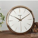 "17.3""H Fashion Rose Gold Wall Clock With Jewelry Decoration - JEBELY/GD302-01B"