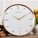 "12""H Classical Mute Wall Clock With Jewelry Decoration - JEBELY/GD266-01B"