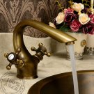 Antique Inspired Bathroom Sink Faucet - Antique Brass Finish KZ-101Q