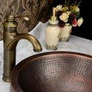 Centerset Antique Brass Bathroom Sink Faucet KZ-113Q