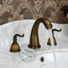 Antique Brass Finish Widespread Bathroom Sink Faucet KZ-303Q