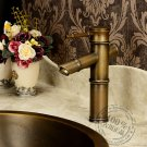 Antique Brass Finish Bathroom Sink Faucet - Bamboo Shape Design KZ-191Q