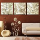Stretched Canvas Print Art Botanical Branch of Leaves Set of 3 - 614M