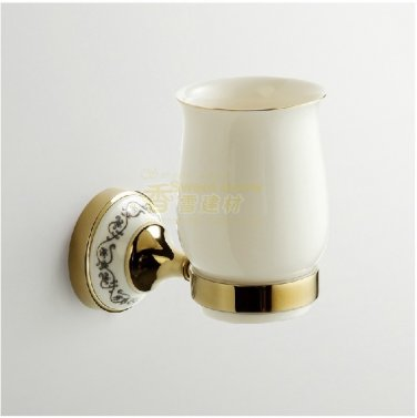 Toothbrush Holder, traditional Brass Ti-PVD finish Tumbler Cup A0152