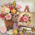 Stretched Canvas Print Still Life Classic Style - W001