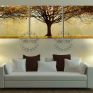 Stretched Canvas Art Landscape Green Tree Set of 3 - YAYI005