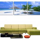 Stretched Canvas Art Landscape Coastal Beach Set of 3 - YAYI203