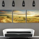 Stretched Canvas Art Landscape Set of 3 - YAYI306