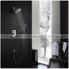 """widespread  rainfall bath shower set faucet with 8"""" shower head+hand shower nickle finish-000327"""