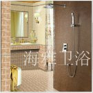 Contemporary Shower Faucet with 8 inch Shower Head + Hand Shower---000343