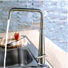 Contemporary Solid Brass Kitchen Faucet - Brushed Finish 8521A