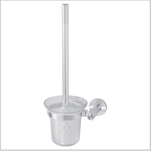 Contemporary Aluminium Toilet Brush Holder With Toilet Brush Cup Chrome Finish 0424