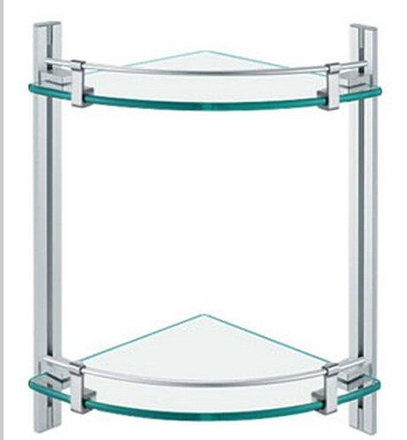 Contemporary Aluminium  And Glass Material Bathroom Shelf  0432