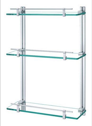 Contemporary Aluminium  And Glass Material Bathroom Shelf  0438