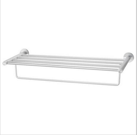 Bathroom  Aluminium  Shelf With Chrome Finish  Towel Bar  0551