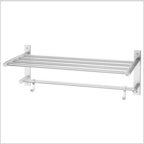 Bathroom Aluminium Shelf With Towel Bar 0552