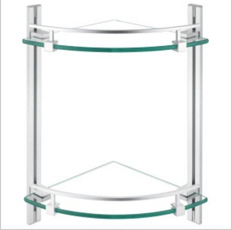 Contemporary Aluminium  And Glass Material Bathroom Shelf  1432