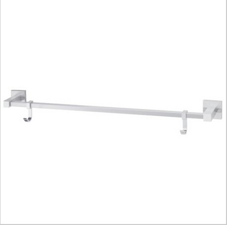 Contemporary Aluminium Chrome Finish  Single Towel Bar With Hooks 1585A