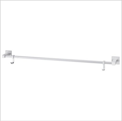 Contemporary Aluminium Chrome Finish  Single Towel Bar With Hooks  1795A