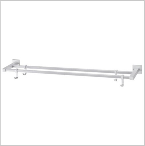 Modern Aluminium  Double Wall Mount Towel Bar With Hooks  1796A