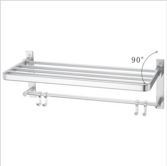 Bathroom  Aluminium  Shelf With Chrome Finish  Towel Bar  552