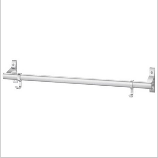 Contemporary Aluminium Chrome Finish  Single Towel Bar With Hooks  585