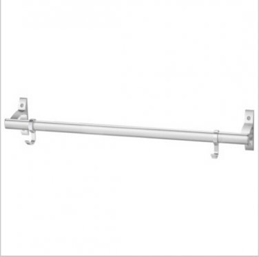 Contemporary Aluminium Chrome Finish  Single Towel Bar With Hooks  585