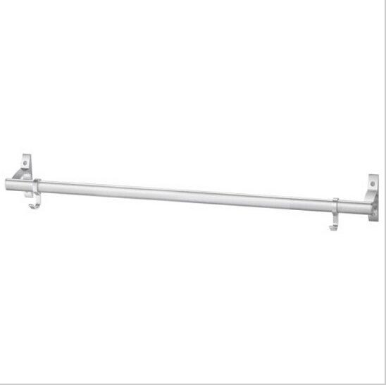 Contemporary Aluminium Chrome Finish  Single Towel Bar With Hooks  795