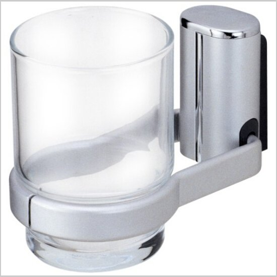 Toothbrush Holder, traditional Aluminium Chrome finish Tumbler Cup 415