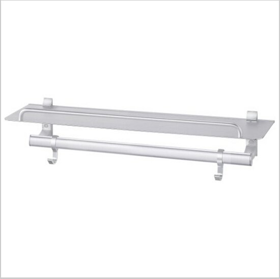 Bathroom  Aluminium  Cup Dispenser With Towel Rail With Hooks  423