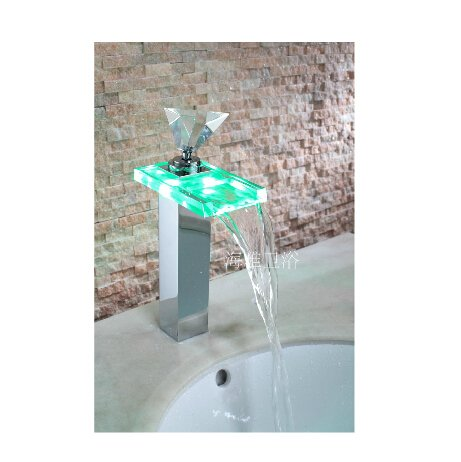 Single Handle Color Changing LED Waterfall Bat---H31085