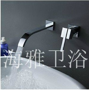 Contemporary Brass Waterfall Bathroom Sink Faucet (Wall Mount) 1011