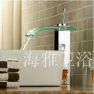 Glass Waterfall Bathroom Sink Faucet (Glass Spout)--H31095