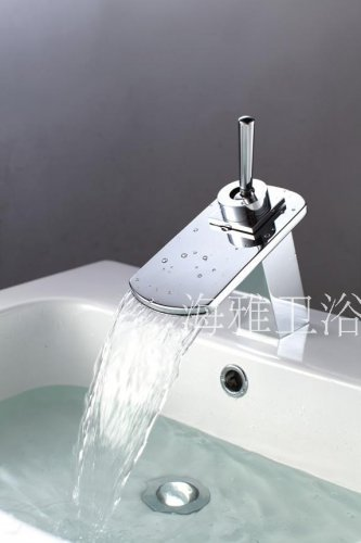 NEW*Contemporary Chrome Finish Waterfall Stainless Steel Basin Faucet 1245