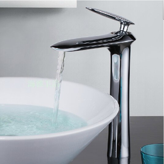 Contemporary Centerset Chrome Finish Bathroom Sink Faucets HG1106