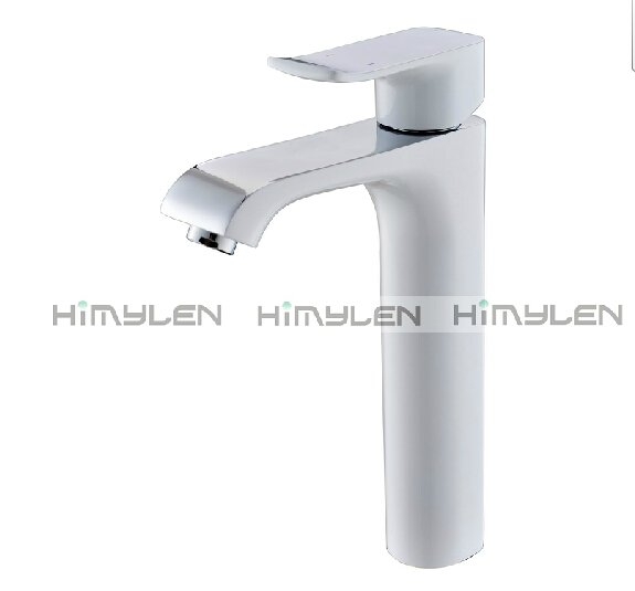 Retro White Painting Finish One Hole Single Handle Centerset Bathroom Sink Faucets---111033