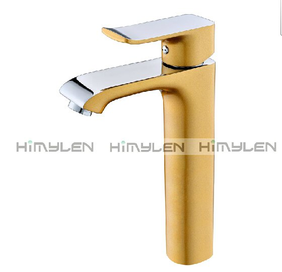 Retro Gold Painting Finish One Hole Single Handle Centerset Bathroom Sink Faucets---111033