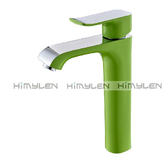 Retro Green Painting Finish One Hole Single Handle Centerset Bathroom Sink Faucets---111033