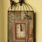 "23""H Shabby Chic Birdcage Design Iron Wall Clock"