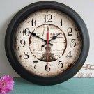 "15"" Traditional Style Metal Wall Clock - YGMW(BOLI054B)"