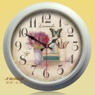 "15""H Retro Flower Style Metal Wall Clock - YGMW(BOLI001XYCW)"