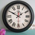 "15""H Retro Style Metal Wall Clock - YGMW(BOLI001LMSZB)"