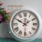 "15""H Retro Style Metal Wall Clock - YGMW(BOLI001LMSZW)"