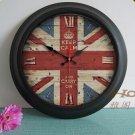 """15""""H Retro Mediterranean Style Metal Wall Clock - YGMW(BOLI058MZB)"""
